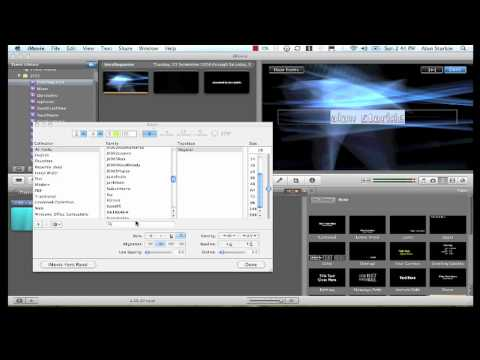 iMovie 09 - How to make Better Titles & Free Backgrounds - YouTube