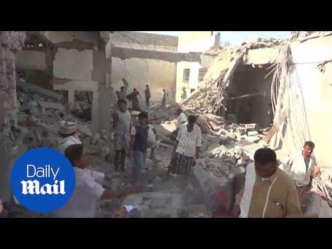 Saudi-led airstrikes hit prison in Yemen, leaving dozens dead - Daily Mail