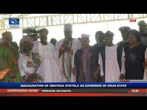 Gboyega Oyetola Sworn In, Takes Over As Osun State Governor Pt.4 |Live Event|