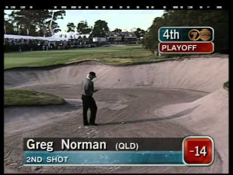 1997 Australian Open Golf, full Westwood v Norman play-off |