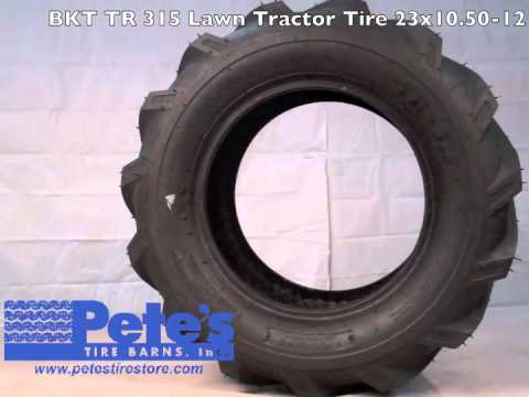 Bkt tr 315 lawn tractor tire youtube - Garden tractor tires 23x10 50 12 ...