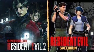 Resident Evil 2 Remake - Speedrun Any%  Leon A - Gameplay En Español
