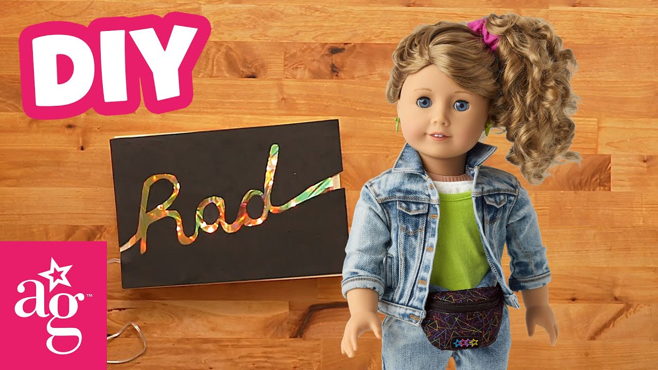 Totally Rad 80s DIY Neon Sign w/ Courtney | Doll DIY | @American Girl