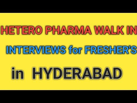 HETERO Pharma Walk in Interviews for Freshers in Hyderabad || Pharma Jobs ||