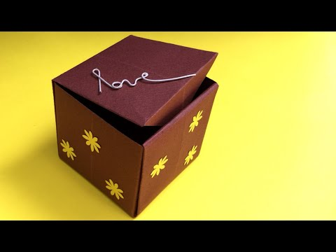 DIY | how to make an easy paper box | origami box