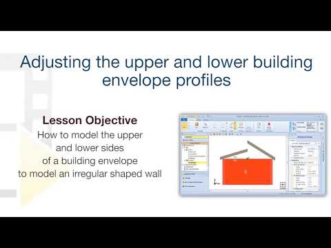Edificius Tutorial - How to adapt the upper/lower building envelope profiles for custom wall shaping