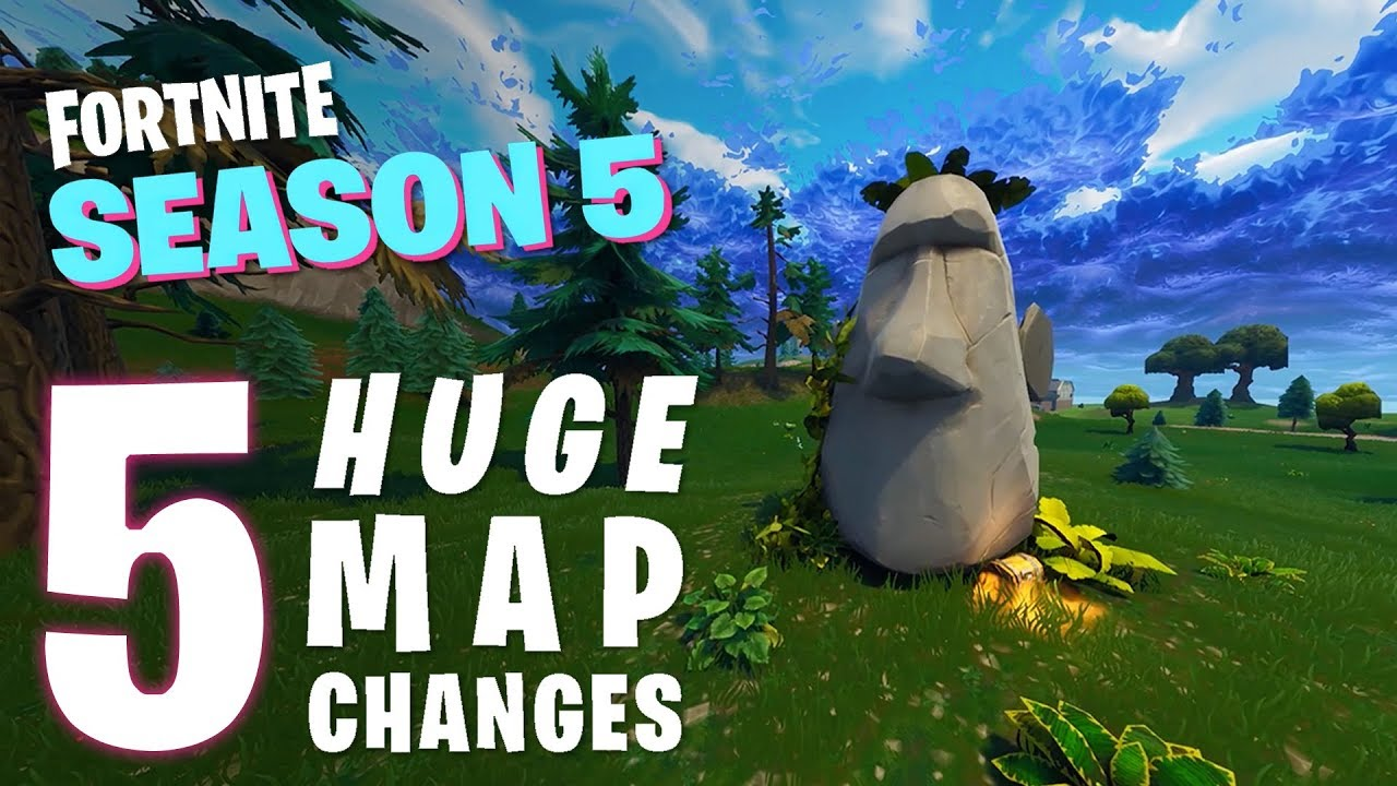 Fortnite Season 5 Top 5 Biggest Map Changes Youtube