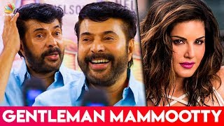 Mammootty EPIC Reaction 😂 for Acting With Sunny Leone? | Madhura Raja Press Meet Speech