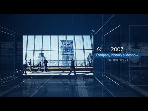 After Effects Template: Company History Slideshow