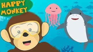 Learn Underwater Sea Animals | Funny Song for Children and Kids