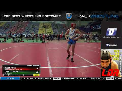 Cadet 152 Tyler Ross Greater Heights Wrestling Vs Cale Luthens Hutchinson
