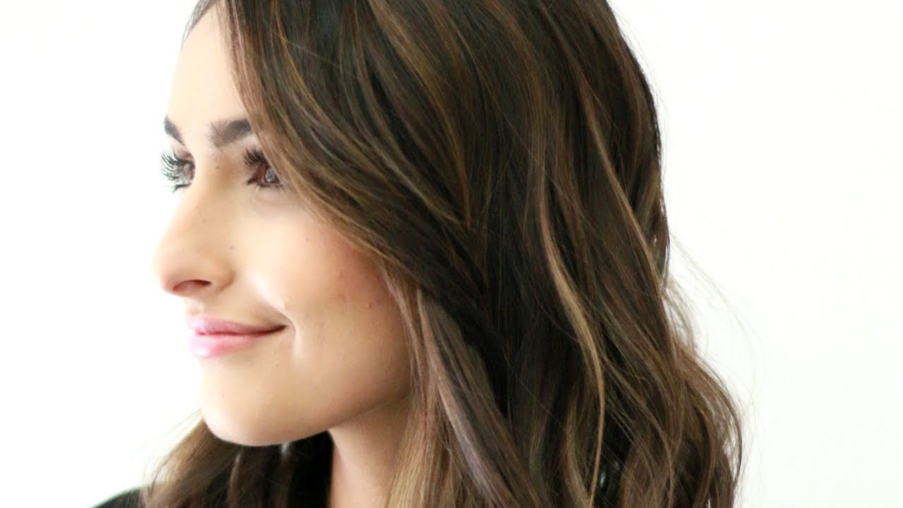 Brunette Sombre Summer Hair Color Balayage Style Teased
