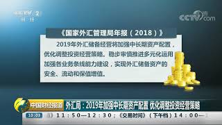 [中国财经报道]外汇局:2019年加强中长期资产配置 优化调整投资经营策略| CCTV财经