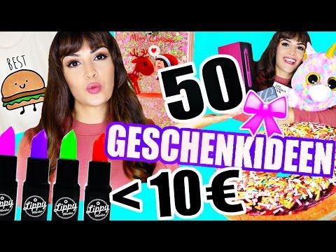 50 GESCHENKIDEEN UNTER 10€ + VERLOSUNG 🎁 | FÜR DEN FREUND, FREUNDIN, DIE GANZE FAMILIE | KINDOFROSY