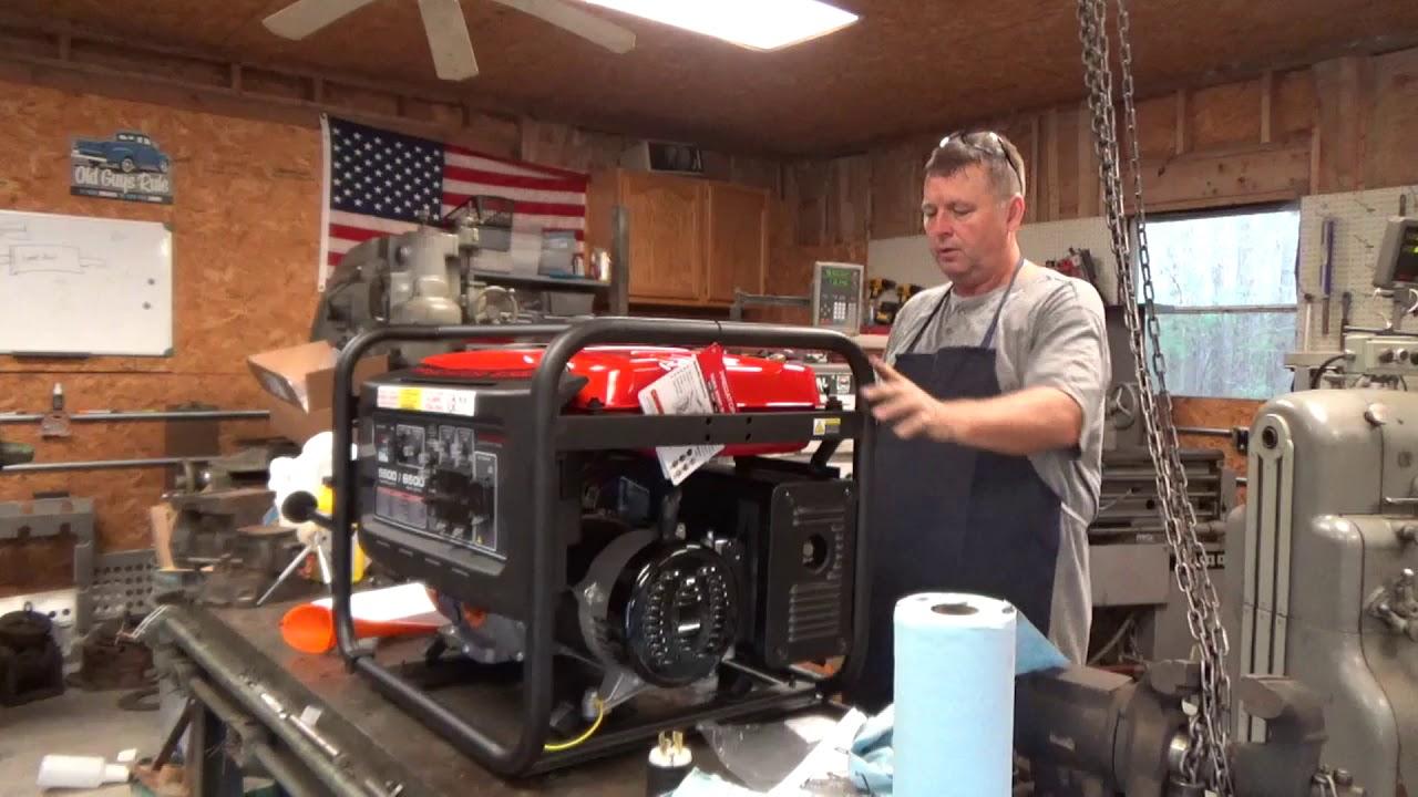 Predator 6500 5500 Generator First Start And Review Youtube Prime Genset Pr6500cl 5000watt