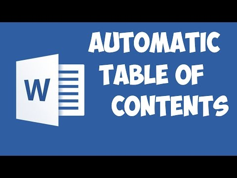 Word 2016 - Table of contents