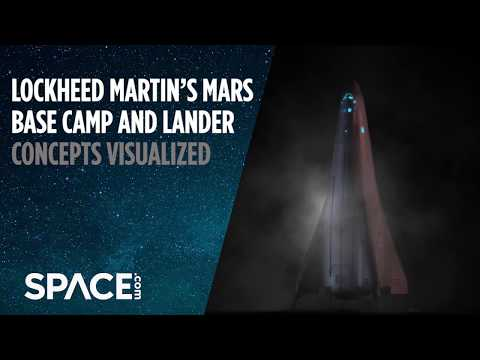 Mars Lander and Orbiting 'Base Camp' Visualized by Lockheed Martin