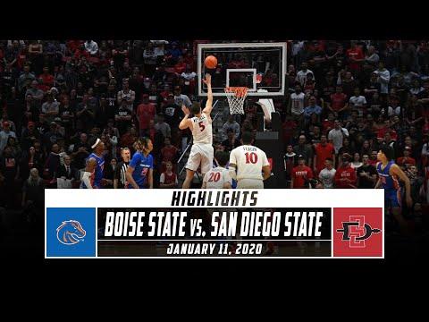 Boise State Vs. No. 7 San Diego State Basketball Highlights (2019-20) | Stadium