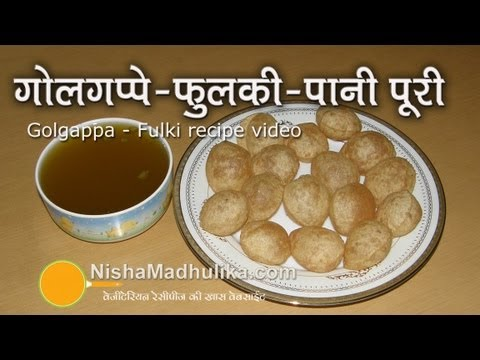 Golgappa  Recipe - Pani Puri Recipe Travel Video