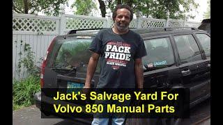 Звалище Джека бігати, щоб витягнути автомобіль Volvo 850 керівництво сдвигатель частини. - howr
