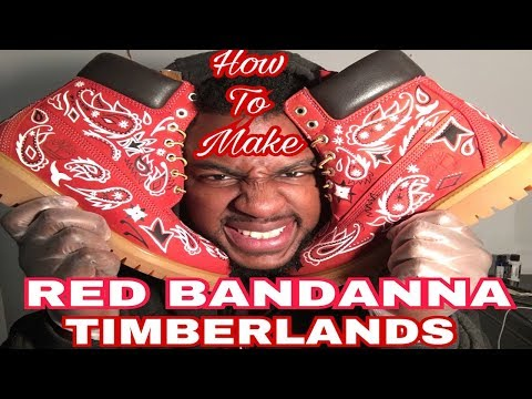 How To Make Red Bandana Timberland Boots