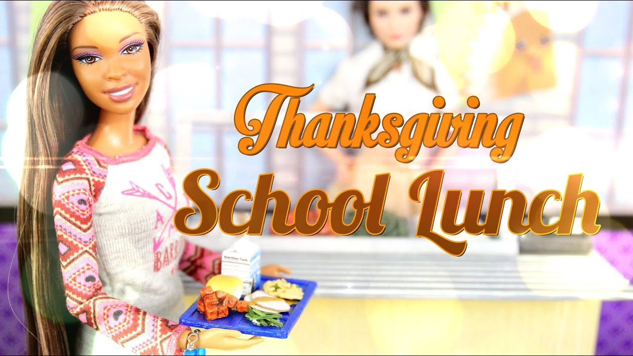 How to Make Doll Thanksgiving School Lunch – Doll Crafts
