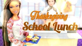 DIY - How to Make:  Doll Thanksgiving School Lunch - BACK TO SCHOOL - Handmade - Crafts