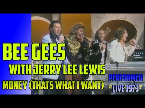 BEE GEES & JERRY LEE LEWIS Money (That´s What I Want) LIVE 1973  **Rescaled to 1080p**