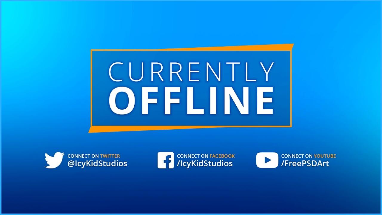 Free Twitch Banner Template Offline Stream Blueorange Psd Free