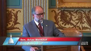 Sen. Meekhof speaks in support of prevailing wage repeal