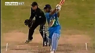 Virender Sehwag 130 - blasts a superb century vs New Zealand 2002