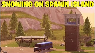 Fortnite snowing on spawn island. Gifting system Removed - SEASON 7 SNOW MAP