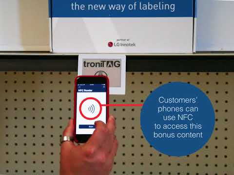 TroniTAG electronic shelf label NFC functionality