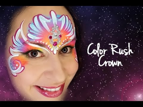 Tag Color Rush Crown Face Painting Tutorial