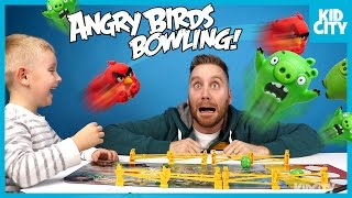 Angry Birds Movie Board Game Challenge Unboxing & Play by KIDCITY