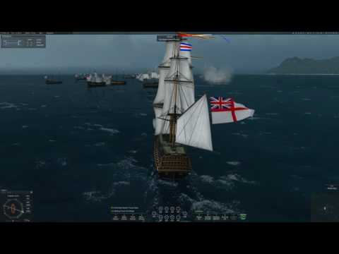 Naval Action - GB vs FR Line ship PVP 13.01.17
