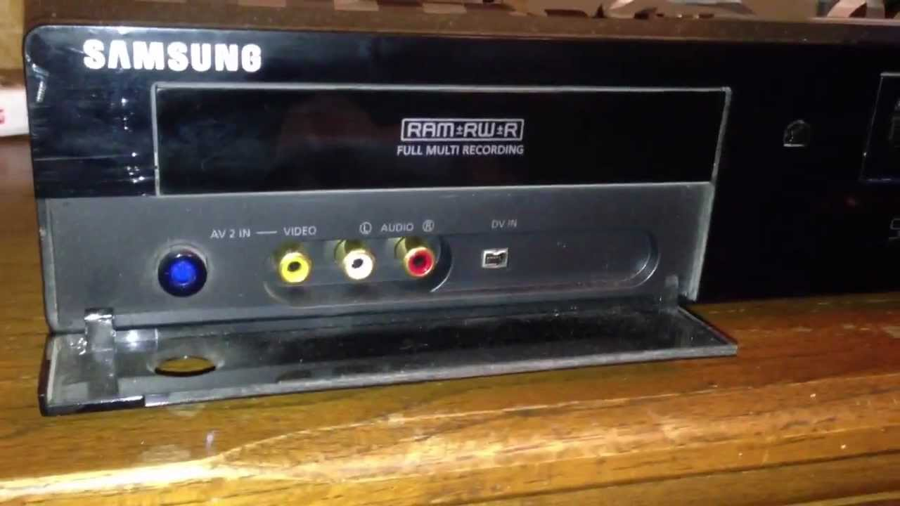 samsung vcr with hdmi output plus a dvd ram recorder youtube rh youtube com samsung dvd vcr combo manual samsung dvd recorder & vcr dvd-vr355 manual