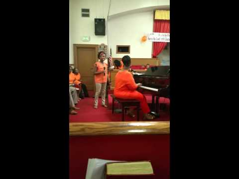 My daughter and I singing