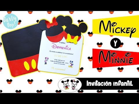 Minnie and Mickey Mouse party invitation free templatesDIY – Mickey Mouse Party Invitations