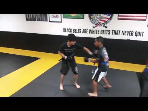 Teens Kick Boxing Sparring