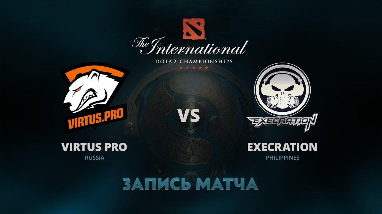 Virtus Pro против Execration, Первая игра, Групповой этап The International 7