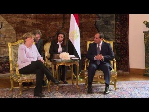 Merkel meets Egyptian President Abdel Fattah al-Sisi