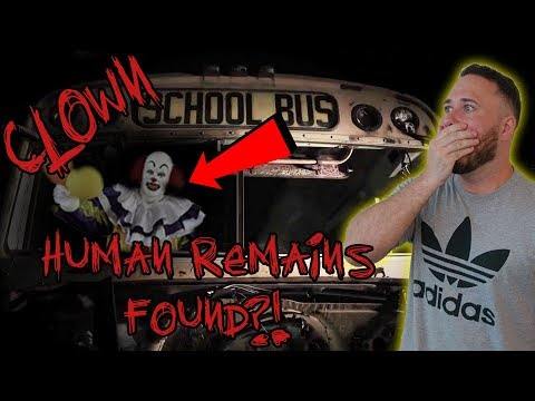 WE FOUND A CLOWN SCHOOL BUS IN HAUNTED WOODS