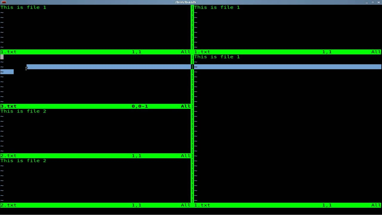 VIM - Split Screen and Navigation - Linux - Shell - BASH
