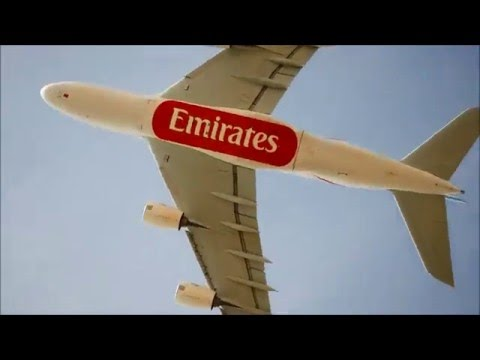 Emirates Airline A380-861 (EK222) [overhead takeoff] departing DFW (A6-EET) {DFW-DXB}