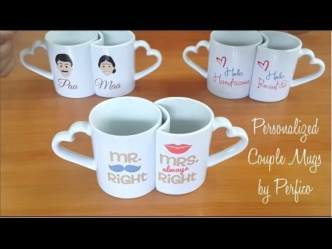 Personalized Couple Mugs from Perfico. (Perfect Romantic Gift)