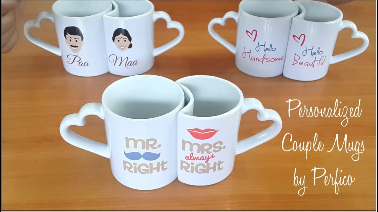 Personalized Couple Mugs From Perfico Perfect Romantic