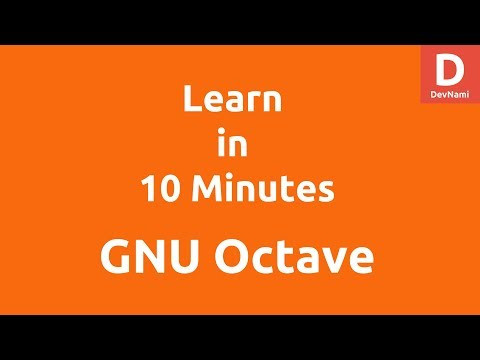 Learn GNU Octave under 10 Minutes