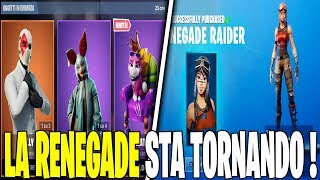 THE RETURN OF SKIN RENEGADE RAIDER IN THE SHOP OF FORTNITE 15 MARCH PET IMPERATRICE