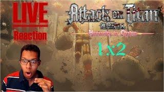 [Vezaks: реакция] Падение Сигансии! Атака Титанов/Attack On Titan - 1 сезон 2 серия